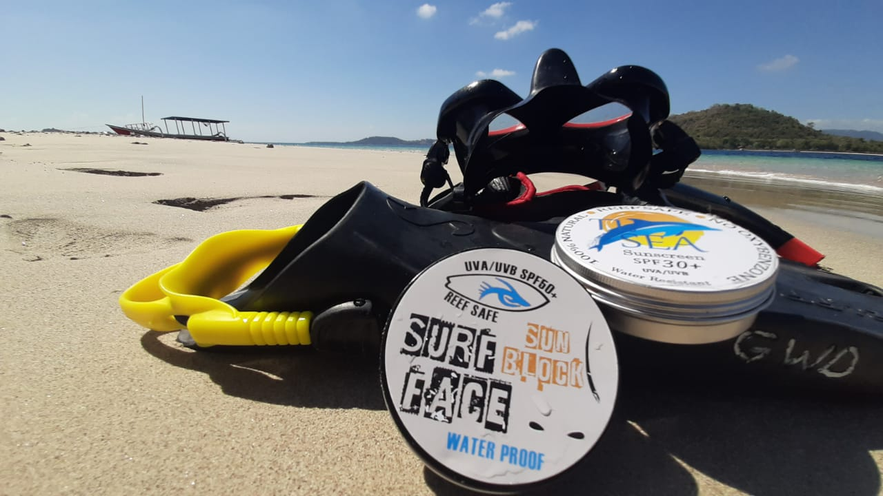 Our reef-safe sunscreen - 15 July 2019